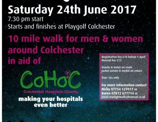 Colchester Starlight Charity Walk 24th June 2017
