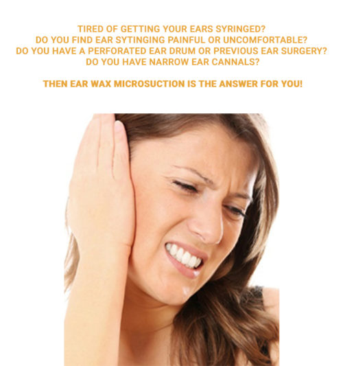 Ear Microsuction from Kept Hearing Ear Wax Clinic – now available !